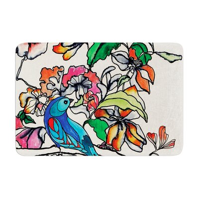 Sonal Nathwani Magic Garden Bird Memory Foam Bath Rug