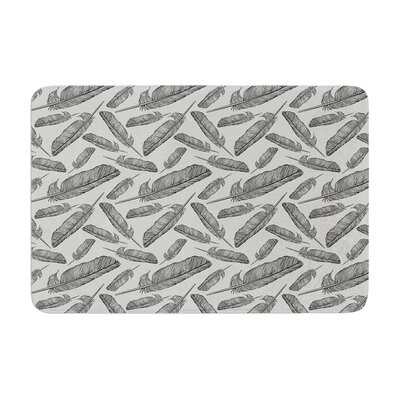 Sam Posnick Feather Scene Memory Foam Bath Rug
