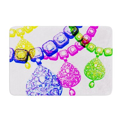 Sreetama Ray Precious Jewelry Memory Foam Bath Rug