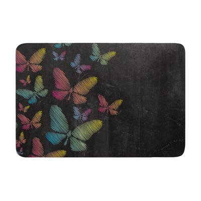 Snap Studio Butterflies Chalk Memory Foam Bath Rug