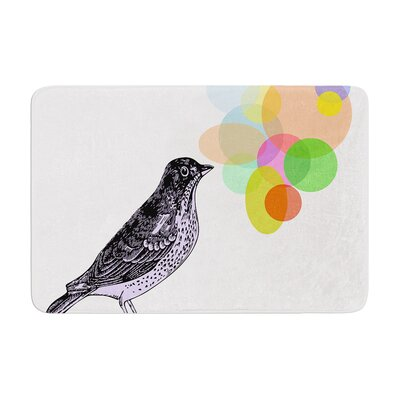 Sreetama Ray Candy Birds Geometry Bird Memory Foam Bath Rug