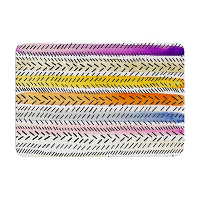 Sreetama Ray Dash 3 Dashed Paint Memory Foam Bath Rug