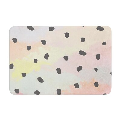 Strawberringo with Dots Painting Memory Foam Bath Rug