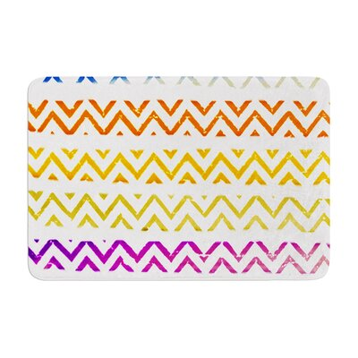 Sreetama Ray Chevron Add Warm Chevrons Memory Foam Bath Rug