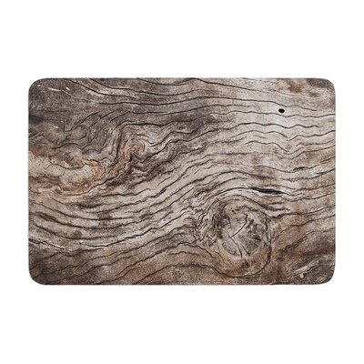 Susan Sanders Tree Bark Wooden Memory Foam Bath Rug
