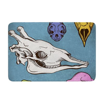 Sophy Tuttle Skulls Memory Foam Bath Rug