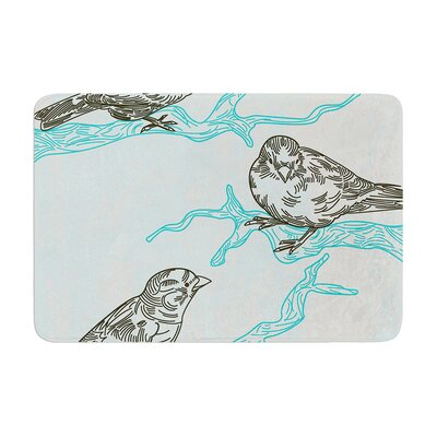 Sam Posnick Birds in Trees Memory Foam Bath Rug