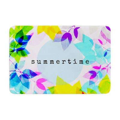 Sreetama Ray Seasons Summer Leaves Memory Foam Bath Rug