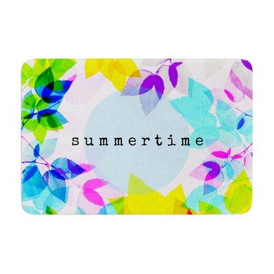 Sreetama Ray Seasons Summer Leaves Memory Foam Bath Rug