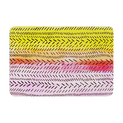 Sreetama Ray Sunshine Warm Paint Memory Foam Bath Rug