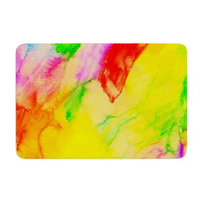 Sreetama Ray Chemical Lovestory Watercolor Memory Foam Bath Rug