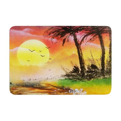 Infinite Spray Art Maui Sunrise Beach Memory Foam Bath Rug
