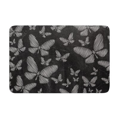 Snap Studio Butterflies III Chalk Memory Foam Bath Rug