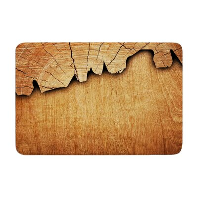 Susan Sanders Natural Wood Rustic Memory Foam Bath Rug