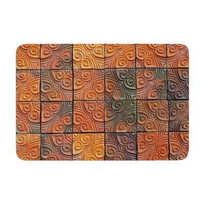 Susan Sanders Whimsy Tile Rustic Memory Foam Bath Rug