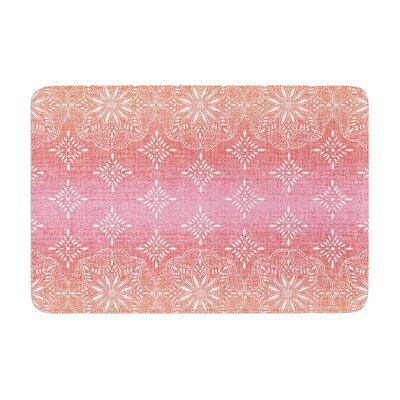 Suzie Tremel Medallion Ombre Memory Foam Bath Rug Color: Red