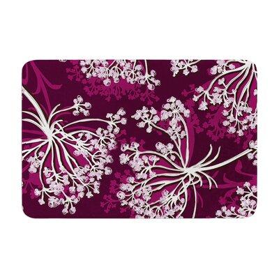 Suzie Tremel Squiggly Floral Memory Foam Bath Rug