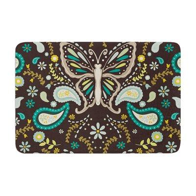 Suzie Tremel Butterfly Garden Memory Foam Bath Rug
