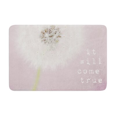 Susannah Tucker It Will Come True Flower Memory Foam Bath Rug