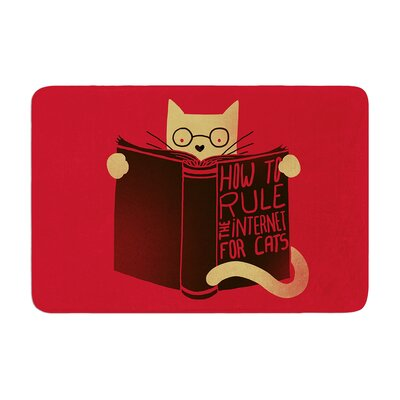 Tobe Fonseca How to Rule the Internet for Cats Typography Memory Foam Bath Rug