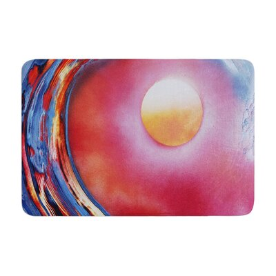 Infinite Spray Art Ideal Barrel Memory Foam Bath Rug