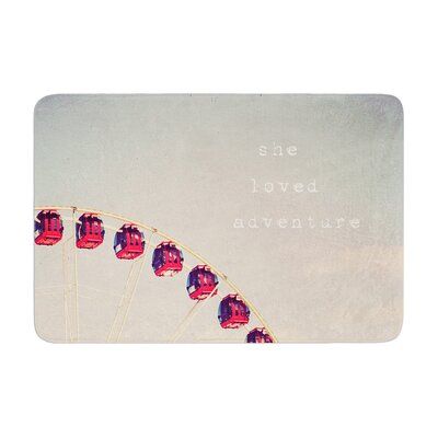 Susannah Tucker She Loved Adventure Ferris Wheel Memory Foam Bath Rug