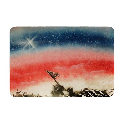 Infinite Spray Art Veterans Day Memory Foam Bath Rug