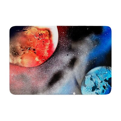 Infinite Spray Art Sun VS. Moon Planet Memory Foam Bath Rug