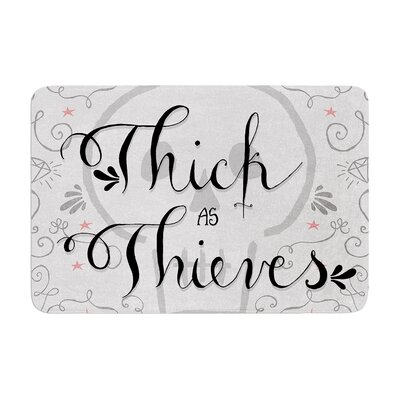 Skye Zambrana Thick as Thieves Memory Foam Bath Rug