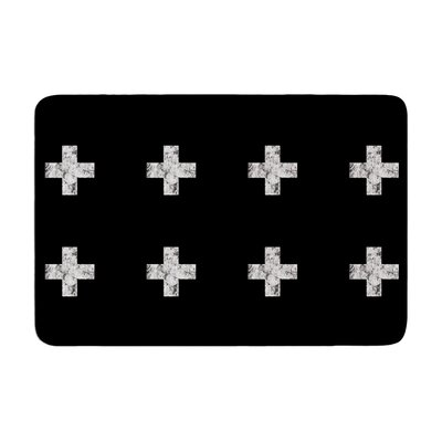 Skye Zambrana Swiss Cross Simple Memory Foam Bath Rug Color: Black