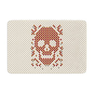 Tobe Fonseca Deforestation Skull Illustration Memory Foam Bath Rug