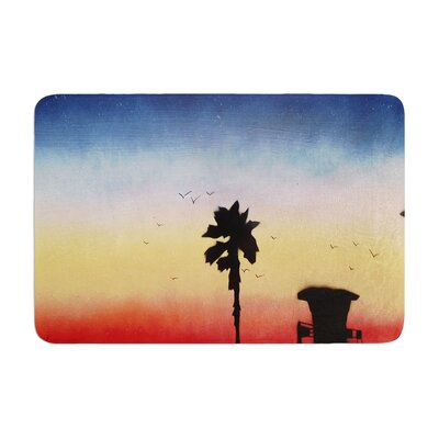 Infinite Spray Art Carlsbad Sunset Coastal Painting Memory Foam Bath Rug
