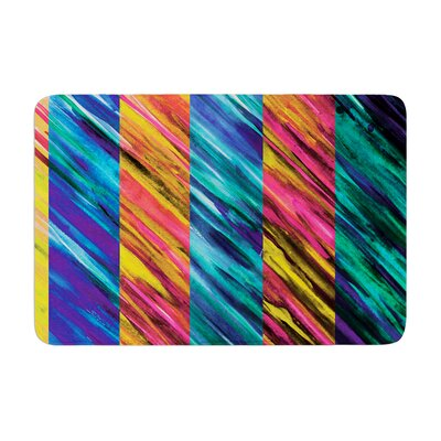 Theresa Giolzetti Set Stripes I Memory Foam Bath Rug