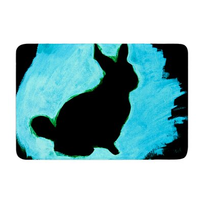 Theresa Giolzetti Moon Bunny Paint Memory Foam Bath Rug