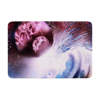 Infinite Spray Art Space Tube Memory Foam Bath Rug