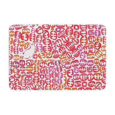 Theresa Giolzetti Oliver Magenta Memory Foam Bath Rug Color: Orange