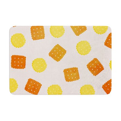 Strawberringo Do You Love Biscuits? Memory Foam Bath Rug