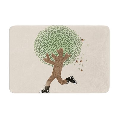 Tobe Fonseca Run for Your Life Tree Illustration Memory Foam Bath Rug