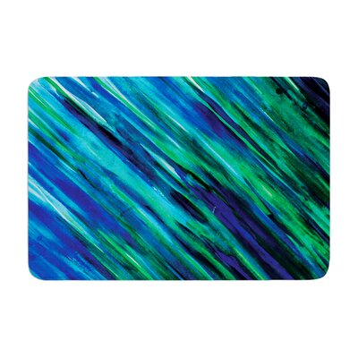 Theresa Giolzetti Memory Foam Bath Rug Color: Blue