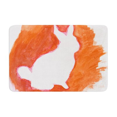 Theresa Giolzetti You a Bunny Abstract Paint Memory Foam Bath Rug