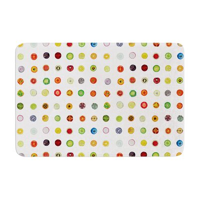 Theresa Giolzetti Fruit Pattern Food Painting Memory Foam Bath Rug