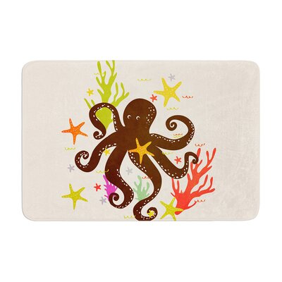Strawberringo Friends Around the Sea Octopus Memory Foam Bath Rug