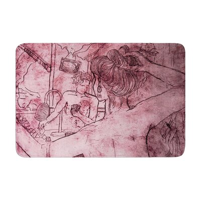 Theresa Giolzetti Magic Tricks Drawing Memory Foam Bath Rug