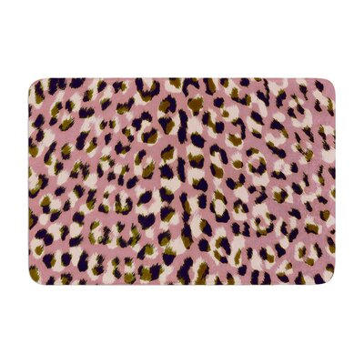 Vasare Nar Leo Cheetah Animal Pattern Memory Foam Bath Rug