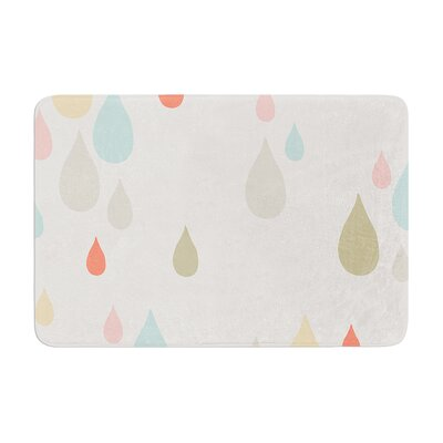 Very Sarie Rainy Days Rain Memory Foam Bath Rug