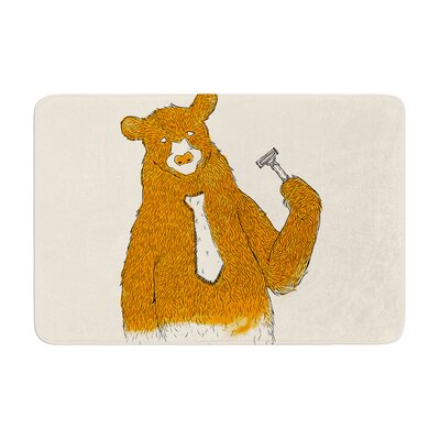 Tobe Fonseca Work Bear Memory Foam Bath Rug