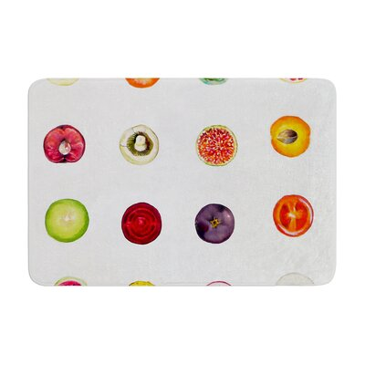 Theresa Giolzetti Fruit Food Memory Foam Bath Rug