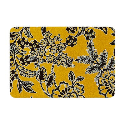 Vikki Salmela Blossom Memory Foam Bath Rug Color: Gold
