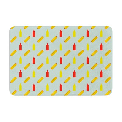 Will Wild Hot Dog Pattern II Food Memory Foam Bath Rug