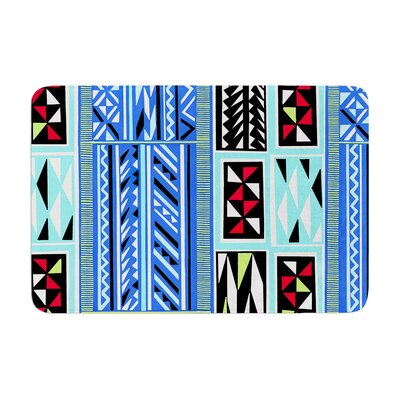 Vikki Salmela American Blanket Pattern Memory Foam Bath Rug